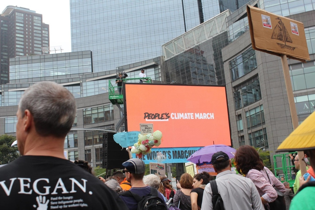 vegan truth at climate march